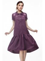 Сукня «Марічка» бордового кольору