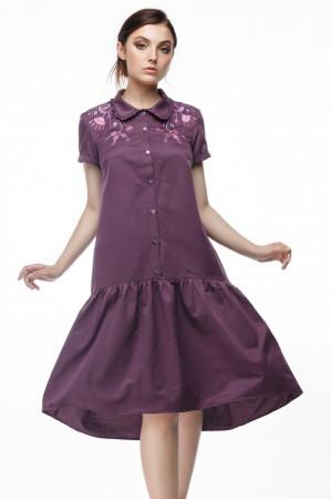 Платье «Маричка» бордового цвета