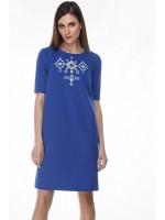 Платье «Леля» синего цвета с коротким рукавом