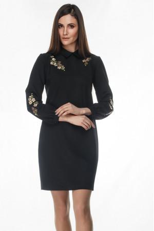 Сукня «Жасмин» чорного кольору – вишивка 3337583dbbb25