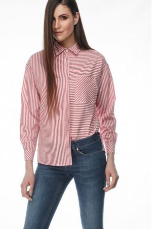 Сорочка «Студио» красно-белого цвета