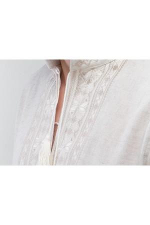 Вишиванка «Орій» з біло-бежевим орнаментом