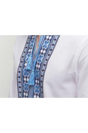 Вишиванка «Орій» з синьо-блакитним орнаментом