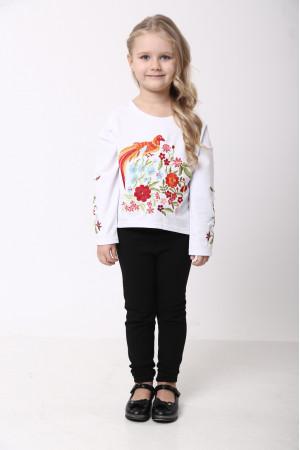 Світшот для дівчинки «Казковий світ» білого кольору