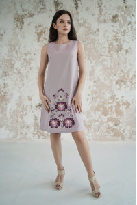 Платье «Звездное сияние» сиреневого цвета