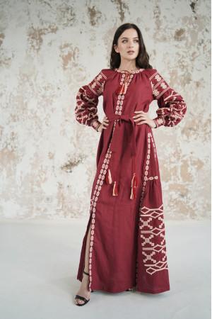 Платье «Грация» вишневого цвета