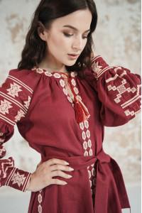 Сукня «Грація» вишневого кольору