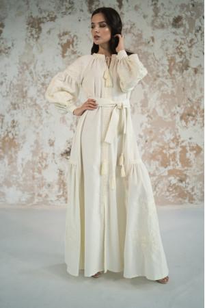 Сукня з клинами «Фантазія» молочного кольору