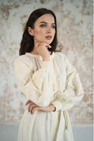 Платье с клиньями «Фантазия» молочного цвета
