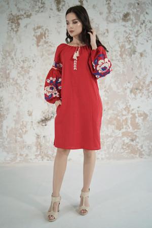 Платье «Левада» красного цвета