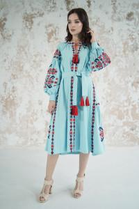 Платье «Врода» бирюзового цвета