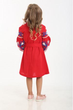 Платье для девочки «Левада» красное