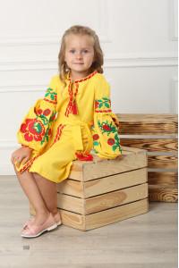 Сукня для дівчинки «Левада» жовта