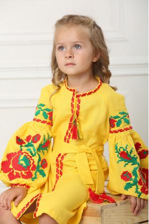 Платье для девочки «Левада» желтое
