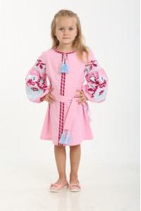 Платье для девочки «Левада» розовое