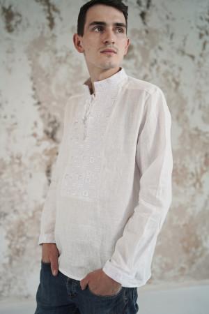 Чоловіча вишиванка «Грація» біла з білим орнаментом