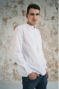 Чоловіча вишиванка «Фантазія» біла з білим орнаментом