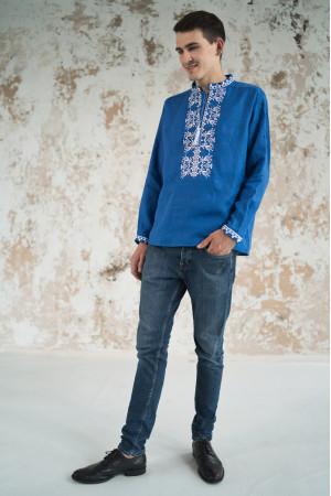 Чоловіча вишиванка «Фантазія» синього кольору
