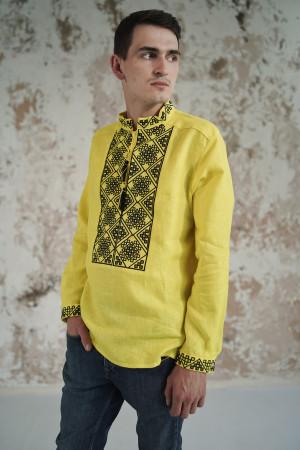 Мужская вышиванка «Атаман» желтого цвета