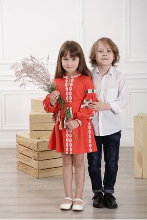 Платье для девочки «Грация Бохо» оранжевого цвета