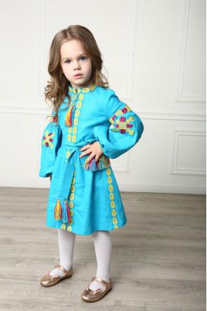 Сукня для дівчинки «Грація Бохо» бірюзового кольору