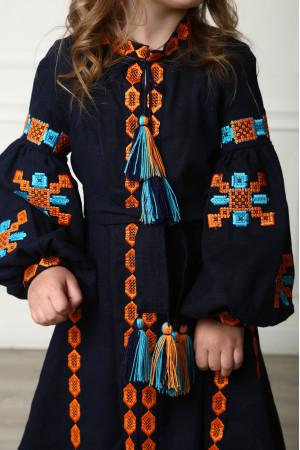 Сукня для дівчинки «Грація Бохо» темно-синього кольору