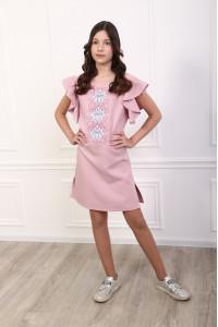 Сукня для дівчинки «Квітуча хвиля» рожевого кольору