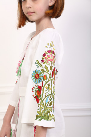 Платье для девочки «Сказочное» белого цвета