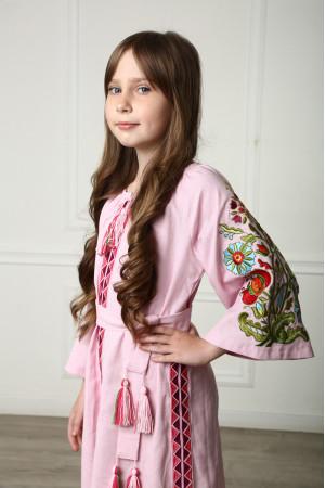 Платье для девочки «Сказочное» розового цвета