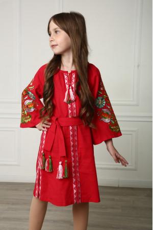 Платье для девочки «Сказочное» красного цвета