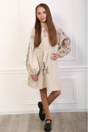 Платье для девочки «Магия» бежевого цвета