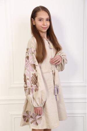 Сукня для дівчинки «Магія» бежевого кольору