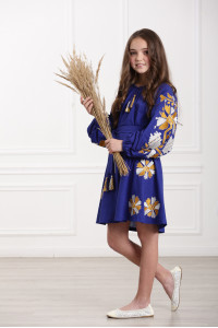 Сукня для дівчинки «Магія» синього кольору