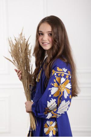 Платье для девочки «Магия» синего цвета