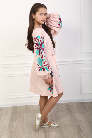 Платье для девочки «Магия» розового цвета