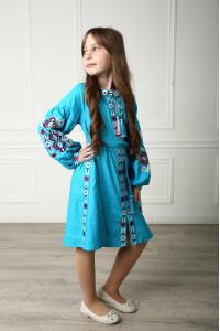 Сукня для дівчинки «Врода Бохо» бірюзового кольору