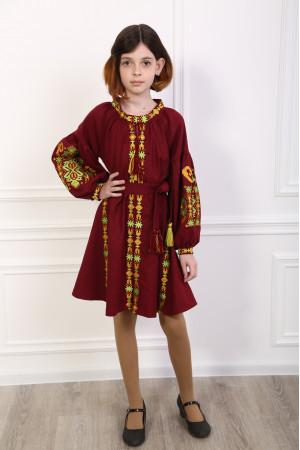 Платье для девочки «Врода Бохо» цвета марсала