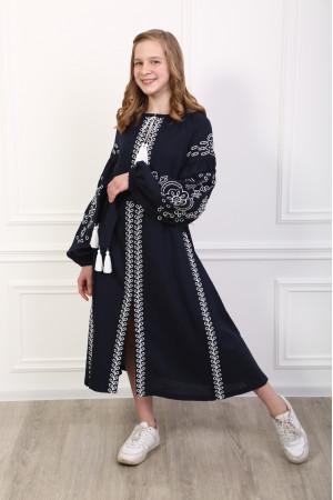 Сукня для дівчинки «Мереживні сни» темно-синього кольору
