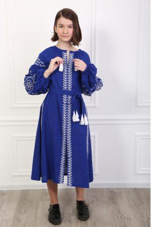 Платье для девочки «Кружевные сны» синего цвета