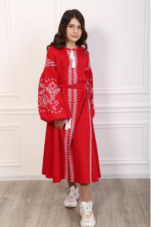 Платье для девочки «Кружевные сны» красного цвета