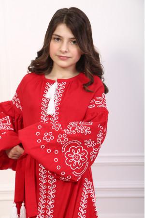 Сукня для дівчинки «Мереживні сни» червоного кольору