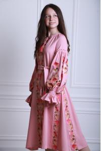 Сукня для дівчинки «Світанкові роси» кольору пудри