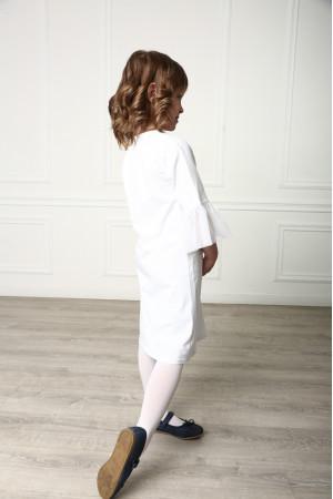 Платье для девочки «Радуга» белого цвета
