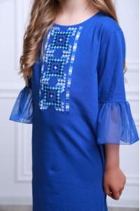 Сукня для дівчинки «Райдуга» синього кольору
