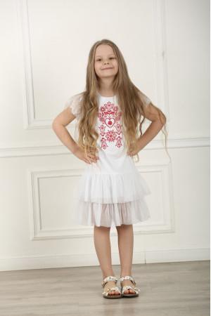Платье для девочки «Нежность» белого цвета