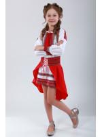 Костюм для дівчинки «Українка» червоного кольору