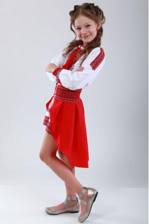 Костюм для девочки «Украинка» красного цвета
