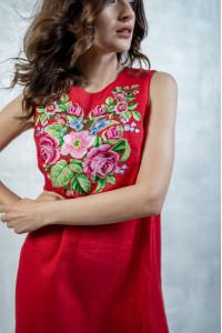 Сукня «Звуки літа» червоного кольору
