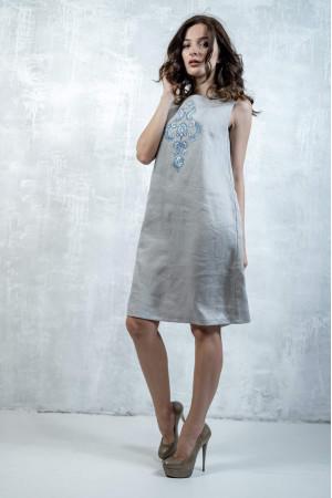 Сукня «Перо павича» сірого кольору