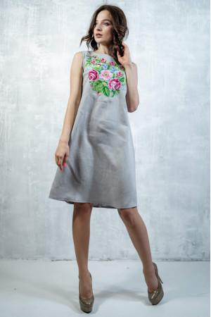 Сукня «Звуки літа» сірого кольору
